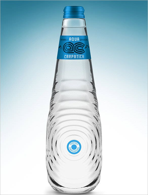 21 water bottle template psd format download free for Mineral water label template