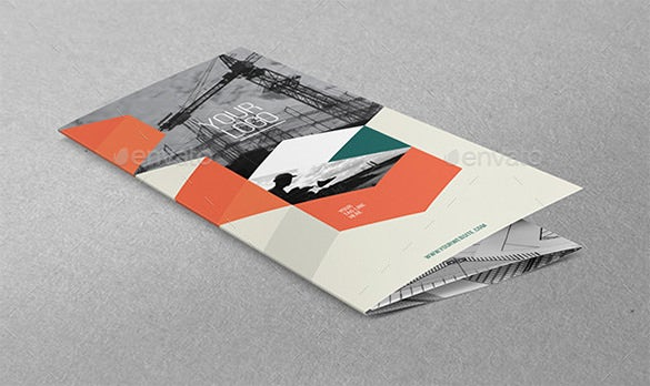 architecture indesign modern trifold brochure template
