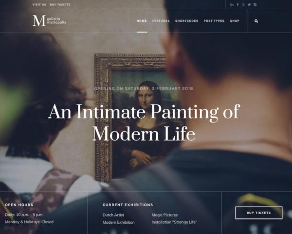 art museum exhibition gallery theme
