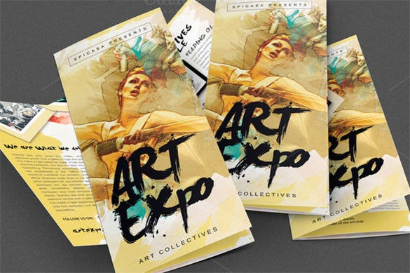 art show or expo trifold brochure design