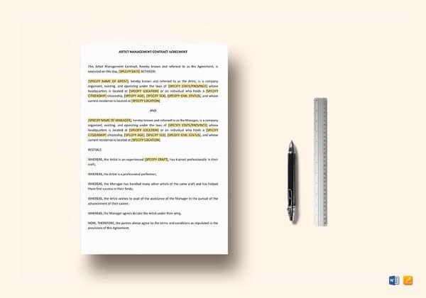 artist-management-contract-template