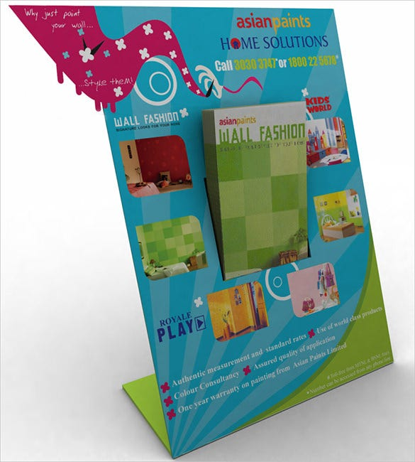 asian paints brochure holder free download
