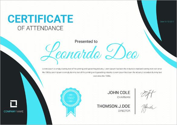 Certificate Of Attendance Template Microsoft Word