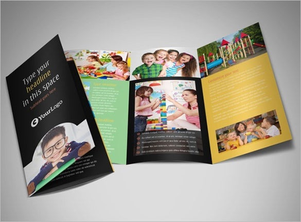 awesome brochure template for child care
