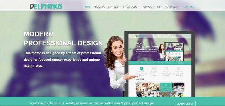 Awesome Joomla Extensions Built-in Corporate Parallax Theme