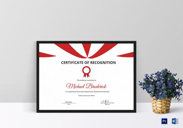 awesome marathon participation certificate template
