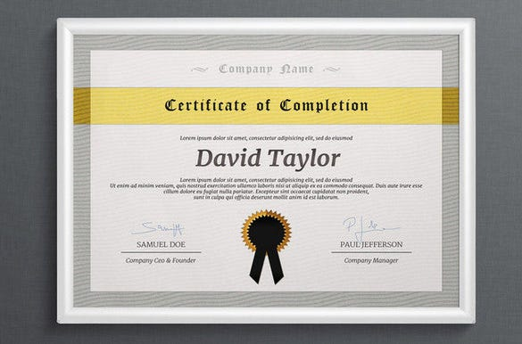 awesome photoshop diploma certificate template 6