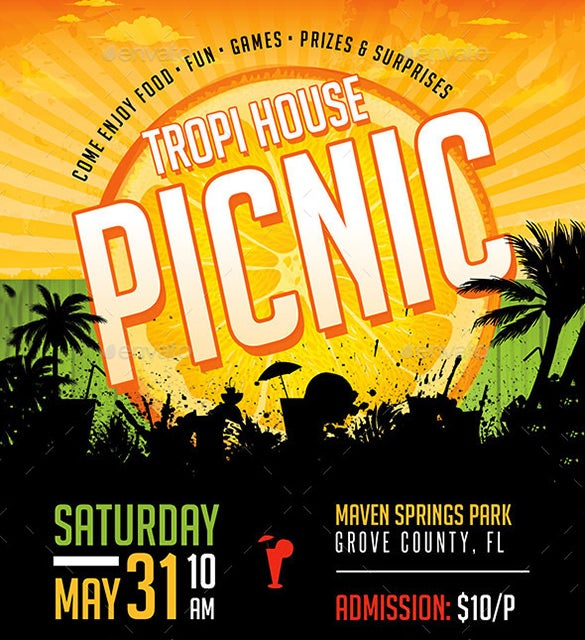 awesome photoshop picnic flyer 6