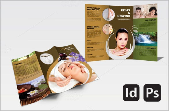 awesome spa brochure template