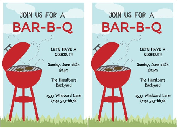 bbq cookout invitation