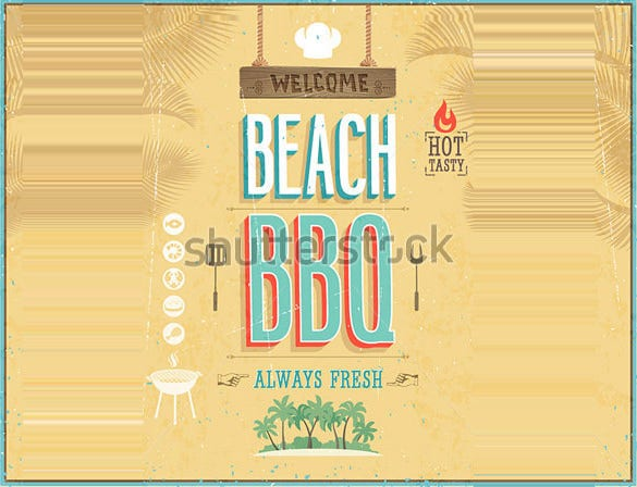 bbq free printable cookout flyers