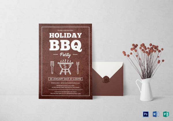 bbq-holiday-party-invitation-template