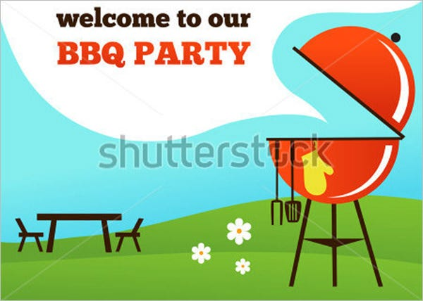 bbq party invitation grill