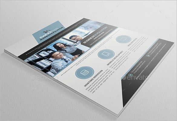 business evolution email flyer template 6