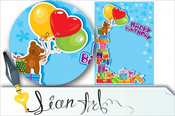 birthday card template   psd, illustrator, eps format download, Birthday card