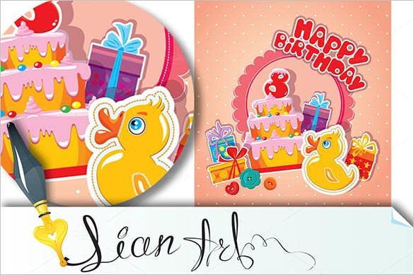 Birthday Card Template 35 PSD Illustrator EPS Format Download – Free Template Birthday Card