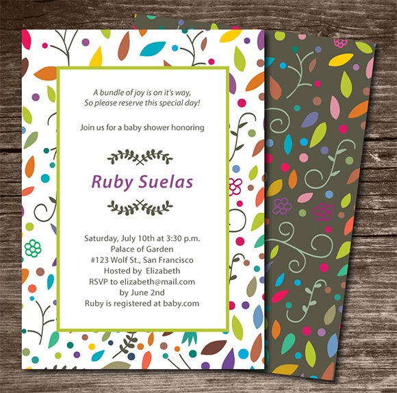 baby shower invitation colors