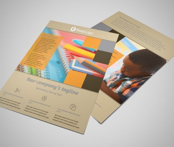 back to school flyer template free design