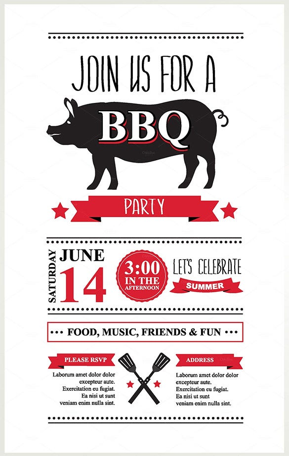 barbecue invitations lunch invitation template