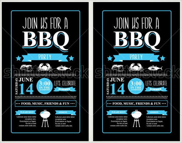 barbecue party invitation bbq brochure