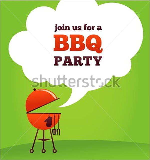 barbeque bbq party invitation