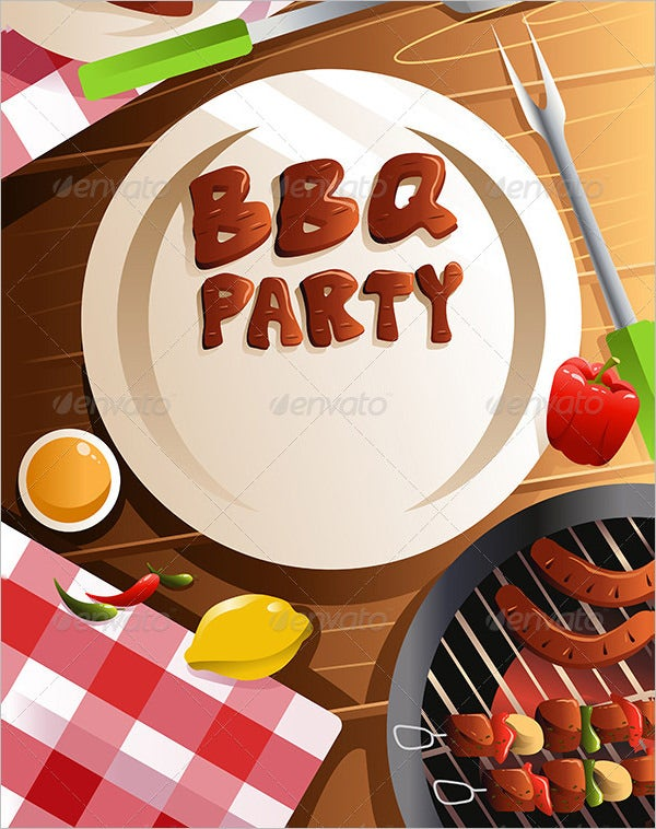 barbeque party poster bbq template