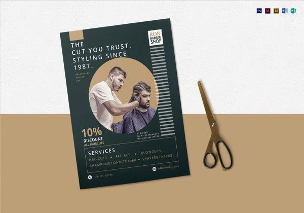 barbershop flyer template in word