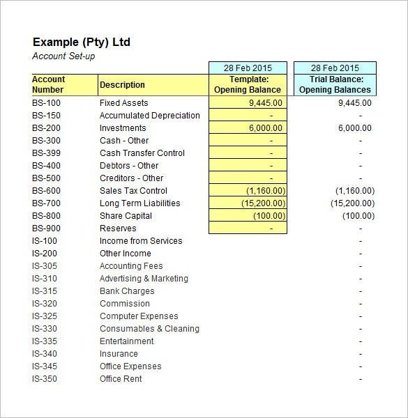 sample accounting spreadsheets for excel