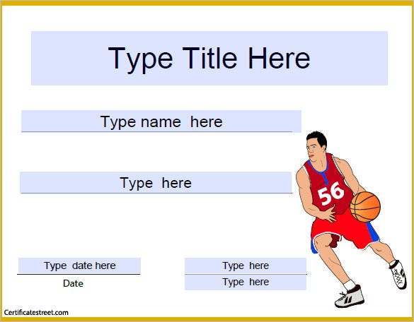 Basketball Certificate Template   Free Word Pdf Psd Format