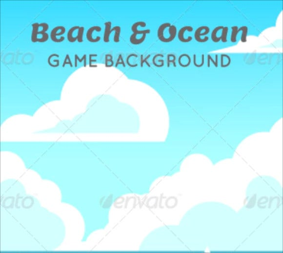 beach ocean game background