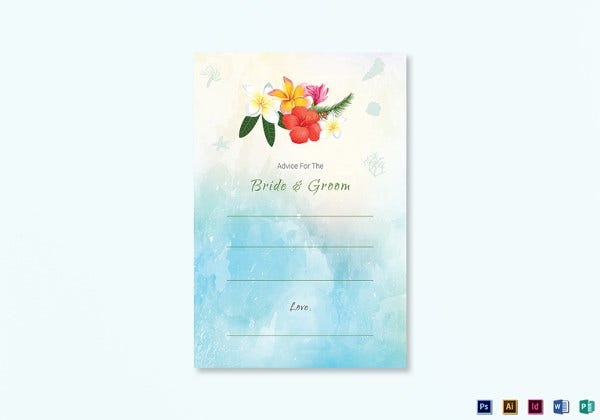beach-wedding-advice-card-template