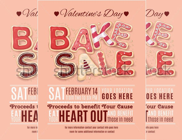 beautiful bake sale flyer template download