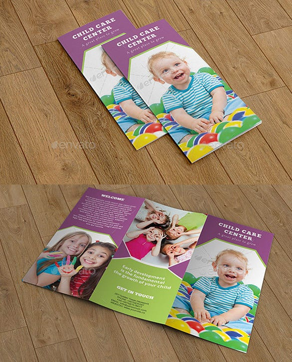 Beautiful Child Care Brochure Templates Free Premium Templates - Child care brochure templates free