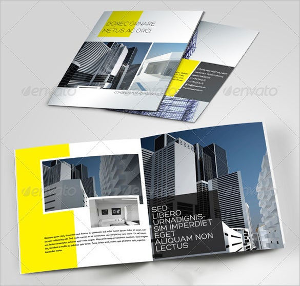 beautiful brochure template for constructing company