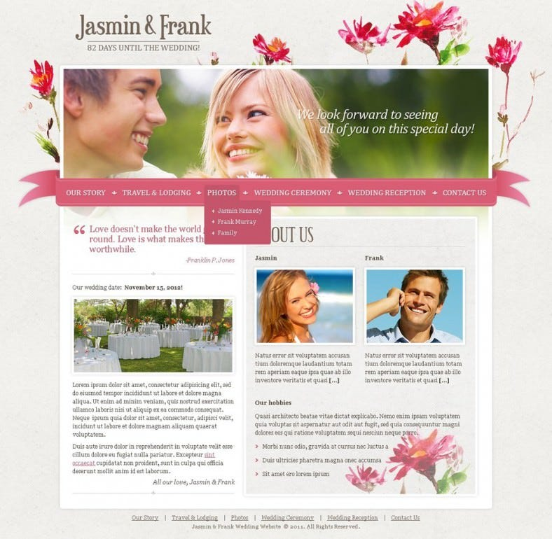 Beautiful & Dynamic Wedding Planner Joomla Template