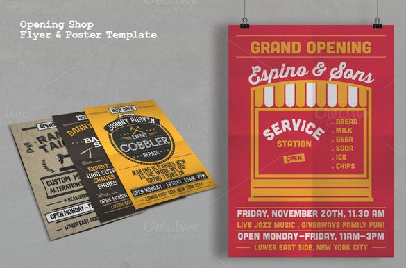 beautiful flyer template for service station grand opening