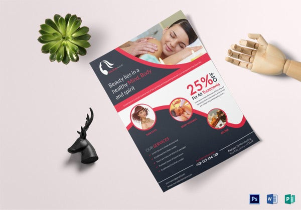 beautiful flyer for hair beauty saloon template