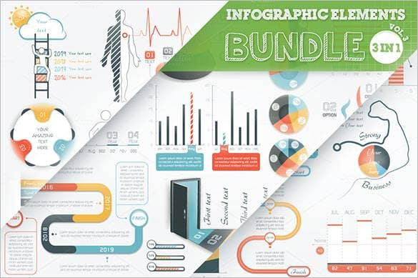beautiful infographic elements bundle