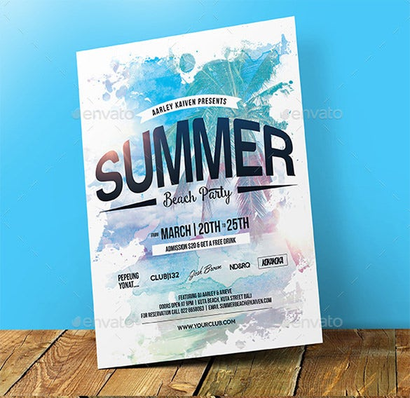 beautiful psd beach flyer template 6