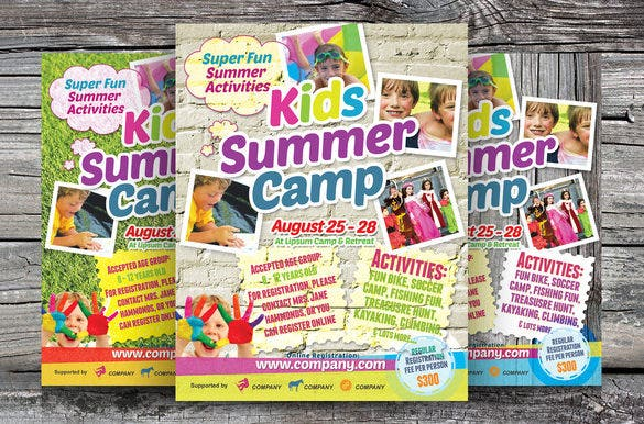 beautiful psd flyer template for summer camp 6