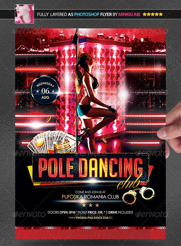 beautiful pole dance poster