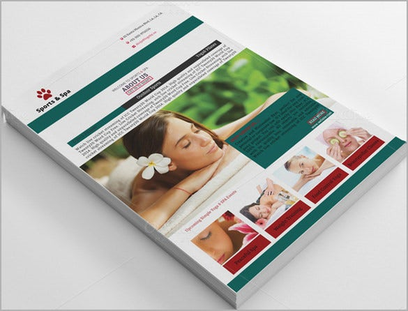 beautiful spa brochure template 11