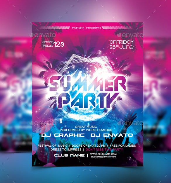 Party Brochure Template Glow Party Flyer Template Glow Party Flyer