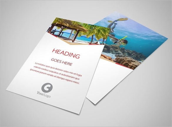 beautiful travel flyer template