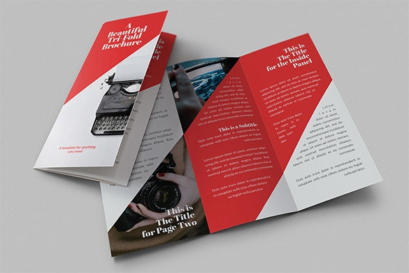 Tri Fold Brochure Templates Free Word PDF PSD EPS - Two page brochure template