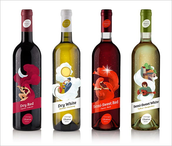 beautiful wine label design template