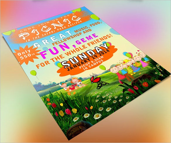 12 Amazing Picnic Flyer Templates – Picnic Flyer Template