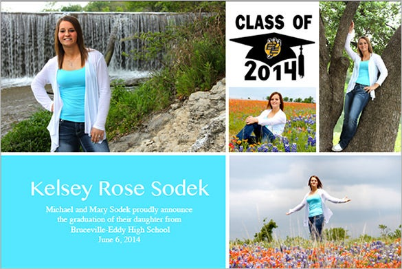 beautifully designed template for graduation announcement