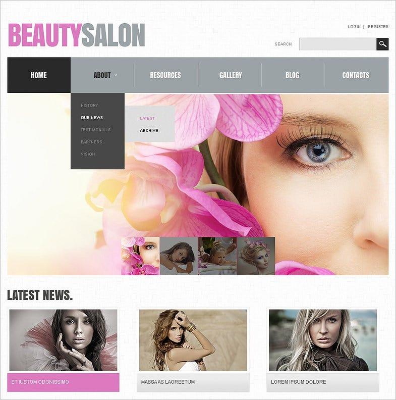 beauty salon responsive joomla template 6