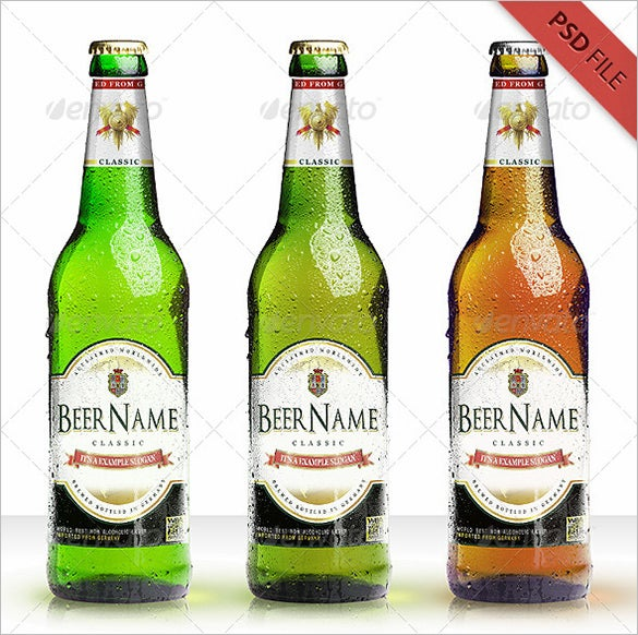 Bottle Design Template Geccetackletartsco - Beer bottle label template